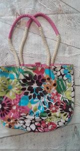 Lily Bloom Sack Bag Bright Floral Pattern!
